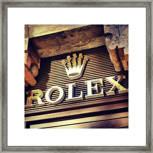 #rolex #watch #igdaily #android #ighub Framed Print