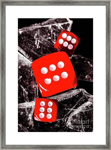 Roll Play Of Still Life Framed Print