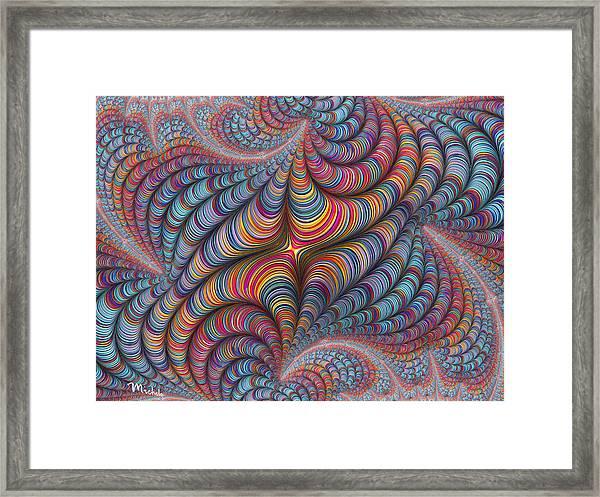 Rolled Blanket Bingo Framed Print