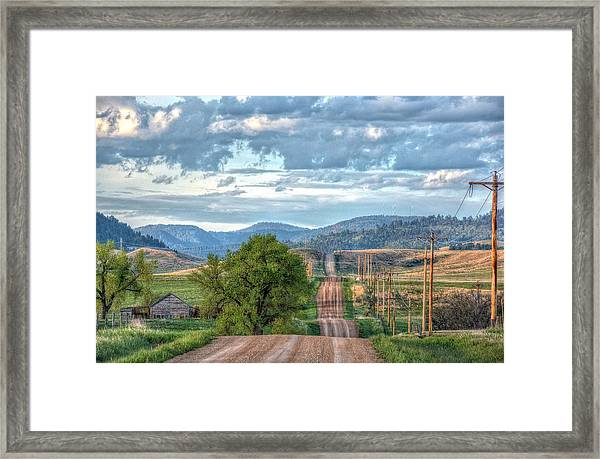 Rollercoaster Country Road Framed Print