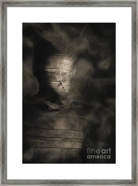 Rollie The Smoking Mummy Framed Print