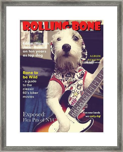 Rolling Bone Magazine Framed Print