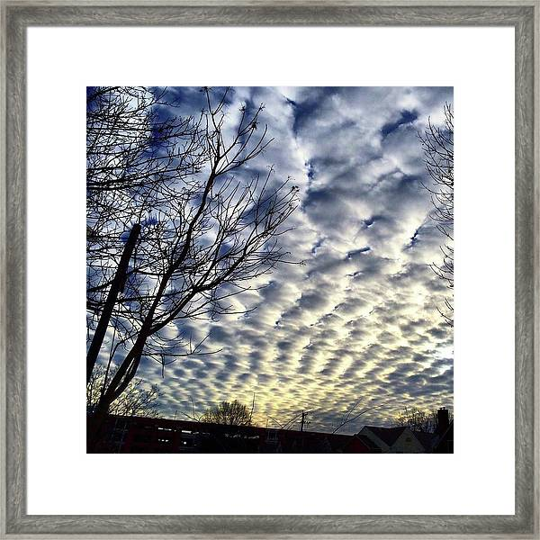 Rolling Clouds Framed Print