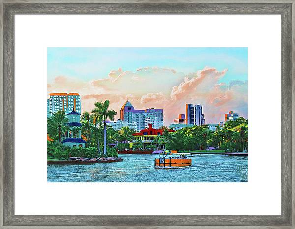 Rolling Down The New River Framed Print