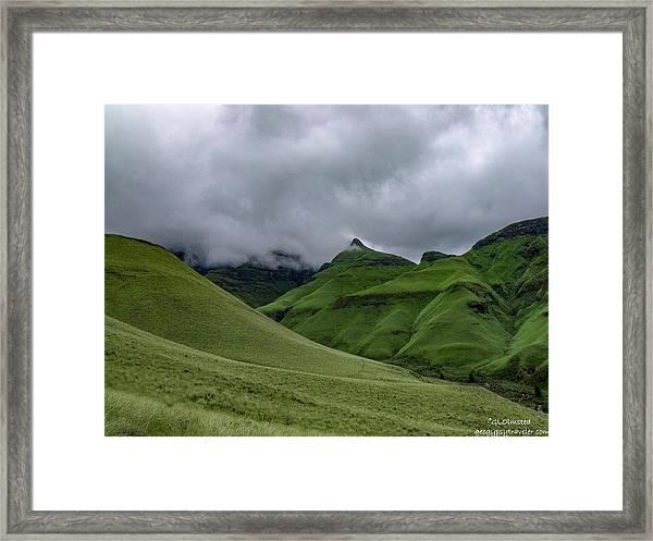 Rolling Green Drakensberg Mountains Framed Print