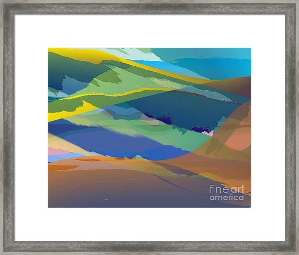 Rolling Hills Landscape Framed Print