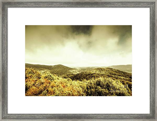 Rolling Hills Of The Tarkine, Tasmania Framed Print