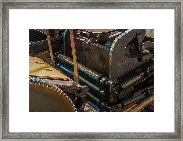 Rolling In Ink Framed Print