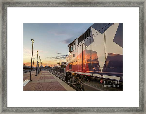 Rolling Into The Sunset Framed Print