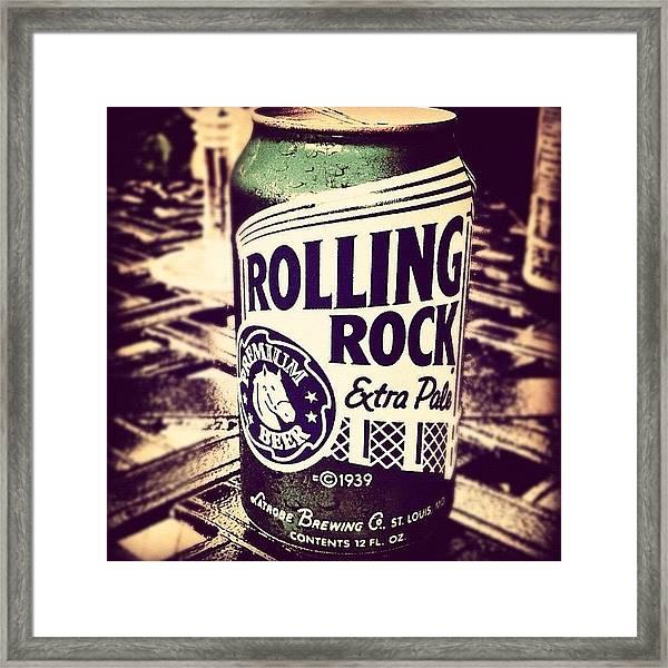 Rolling Rock. #american #beer Framed Print