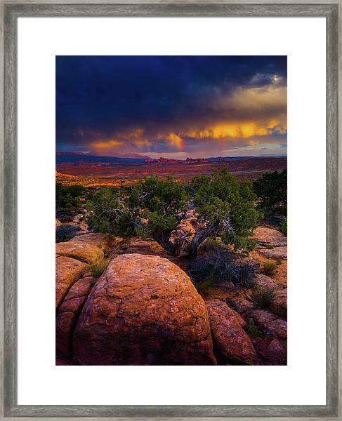 Framed Print featuring the photograph Rolling Thunder by John De Bord