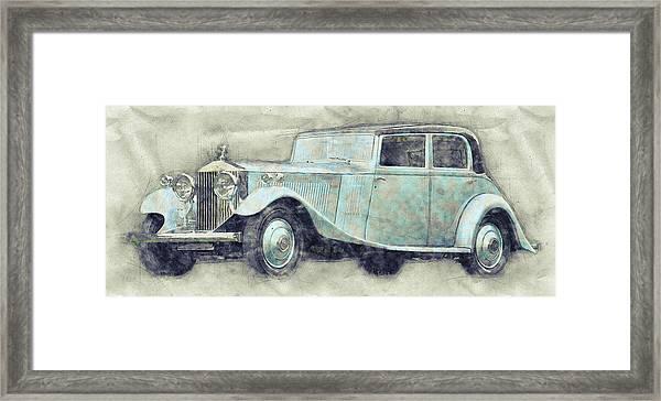 Rolls-royce Phantom 1 - Luxury Car - 1925 - Automotive Art - Car Posters Framed Print