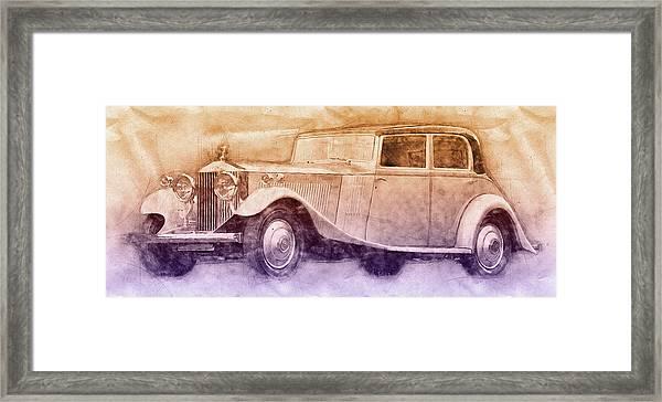 Rolls-royce Phantom 2 - Luxury Car - 1925 - Automotive Art - Car Posters Framed Print
