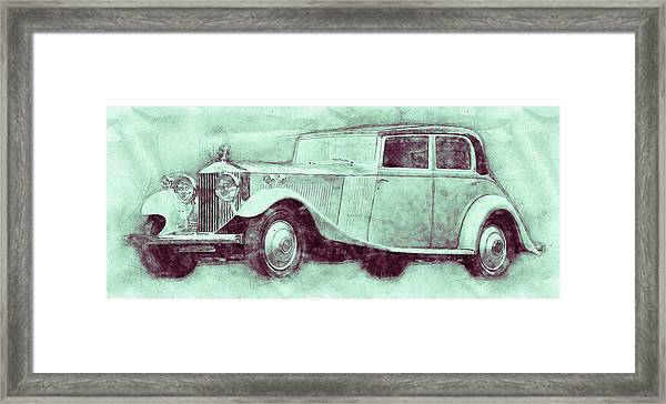 Rolls-royce Phantom 3 - Luxury Car - 1925 - Automotive Art - Car Posters Framed Print