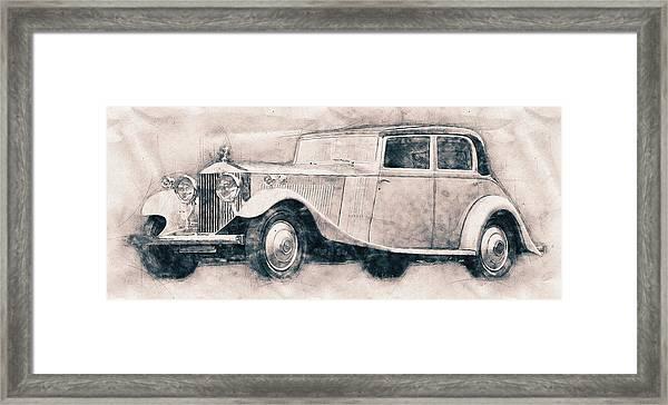 Rolls-royce Phantom - Luxury Car - 1925 - Automotive Art - Car Posters Framed Print