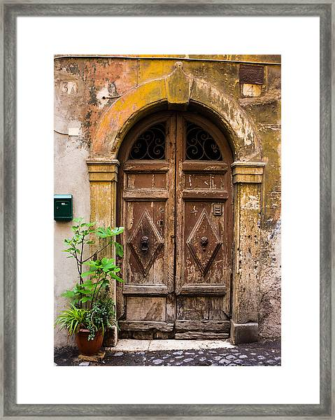 Roman Door Framed Print
