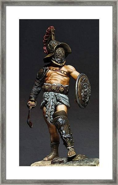 Roman Gladiator - 02 Framed Print