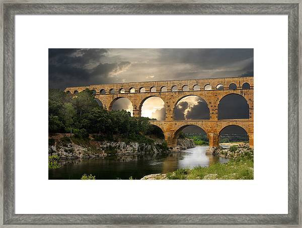 Roman Pont Du Gard Framed Print