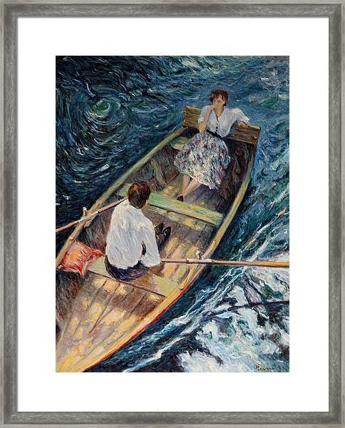 Dordogne , Beynac-et-cazenac , France ,romantic Boat Trip Framed Print
