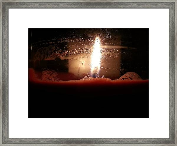 Romantic Candle Framed Print
