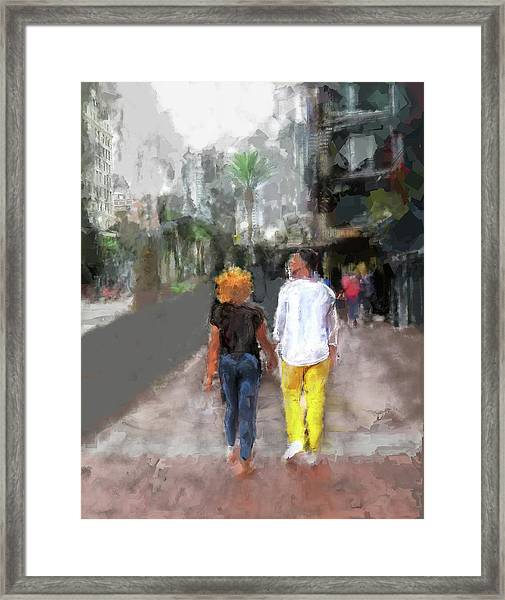 Romantic Couple Framed Print