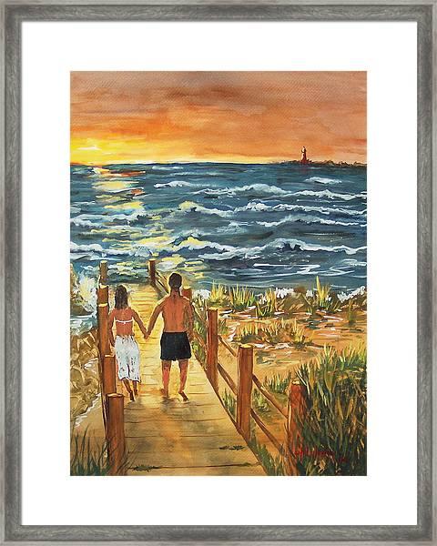 Romantic Evening Framed Print