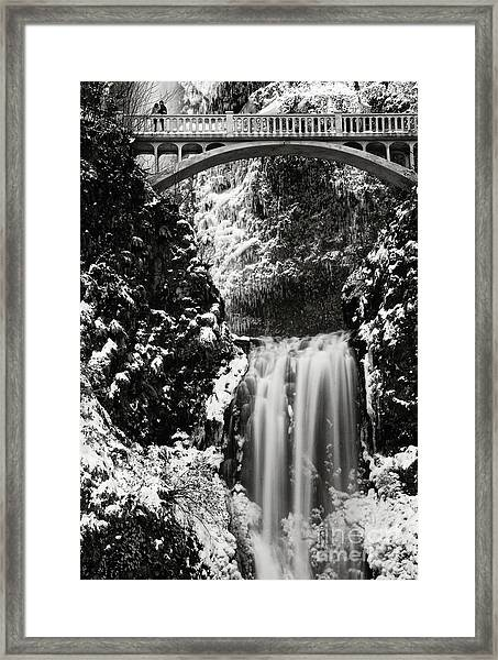 Romantic Moments At The Falls Framed Print