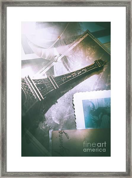 Romantic Paris Memory Framed Print