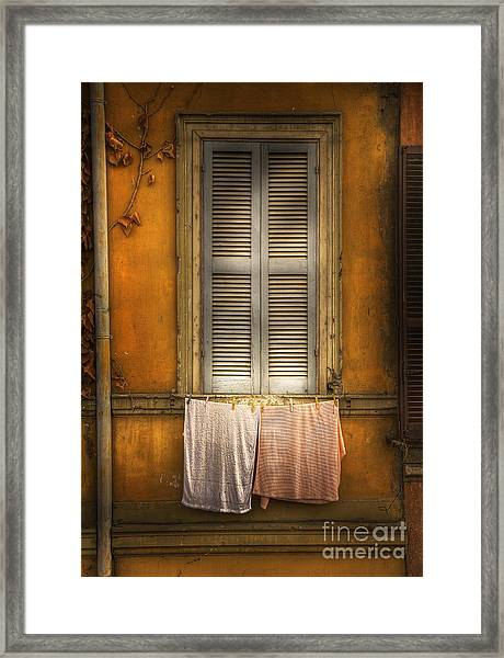 Rome Dish Cloths Framed Print