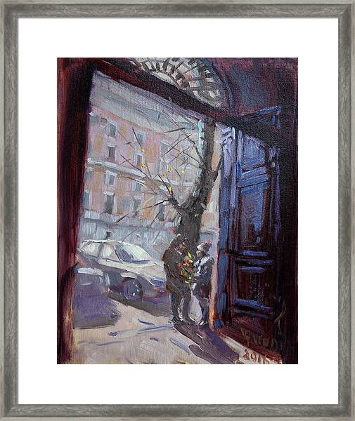 Rome, Flowers For My Valentine Framed Print