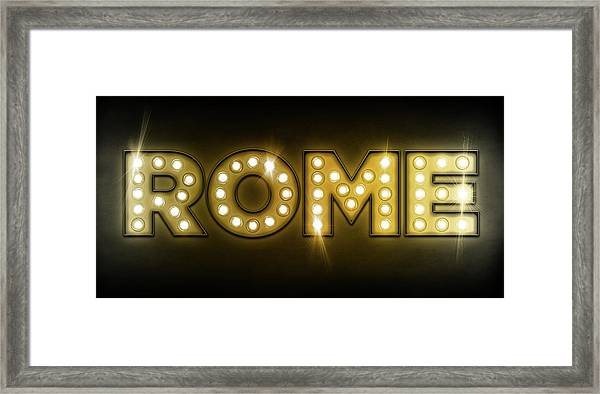Rome In Lights Framed Print