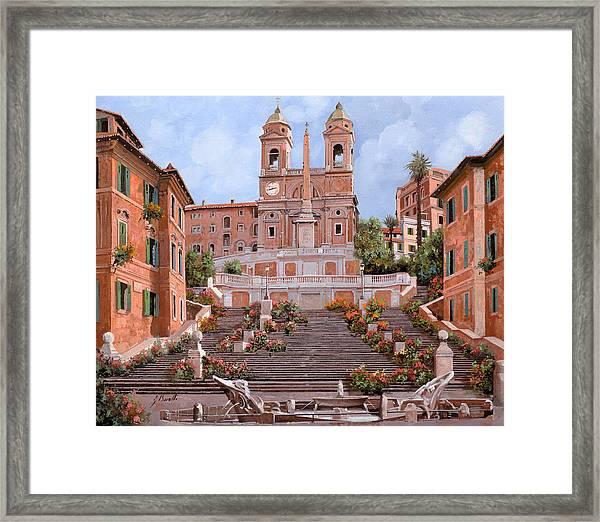 Rome-piazza Di Spagna Framed Print