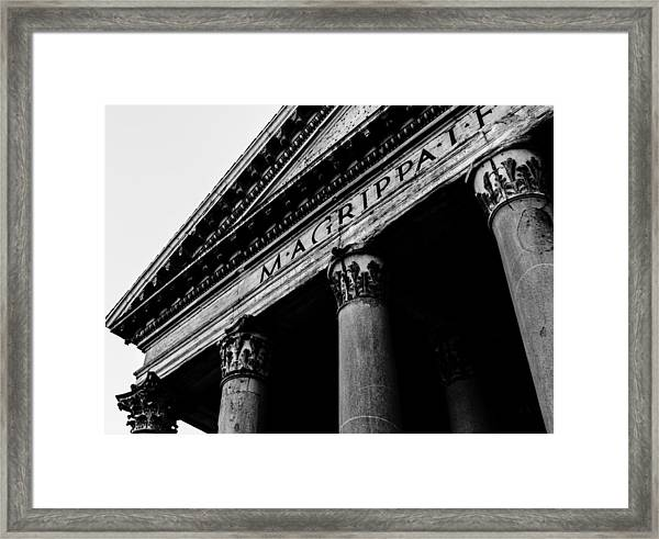 Rome - The Pantheon Framed Print