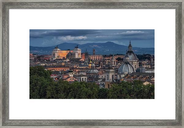 Rome Twilight Framed Print