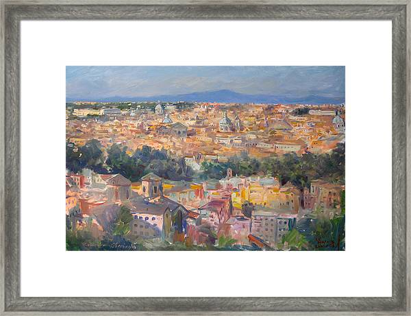 Rome View From Gianicolo Framed Print