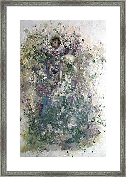 Romeo And Juliet. Monotype Framed Print