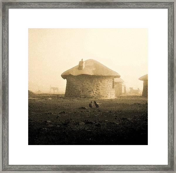Rondavel In Lesotho Framed Print