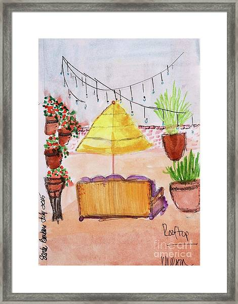 Rooftop At The Canary Framed Print