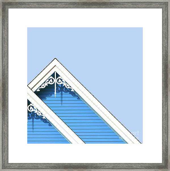 Rooftop Detail With Decorative Fretwork Framed Print