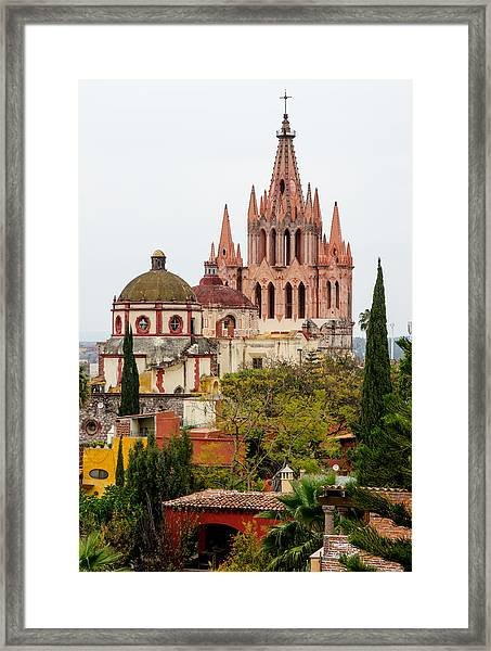 Rooftop View Of La Parroquia De San Miguel Arcangel Framed Print