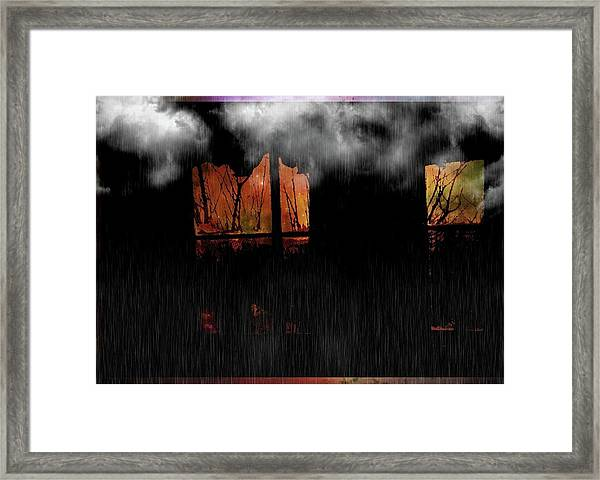 Room With Clouds Framed Print