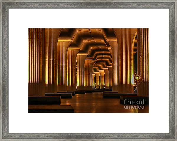 Framed Print featuring the photograph Roosevelt Night Shot by Tom Claud