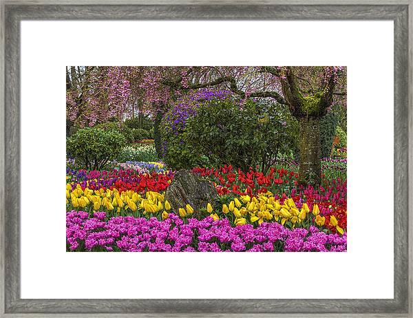 Roozengaarde Flower Garden Framed Print