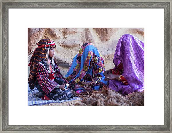 Framed Print featuring the photograph Rope Makers by Ibrahim Azaga