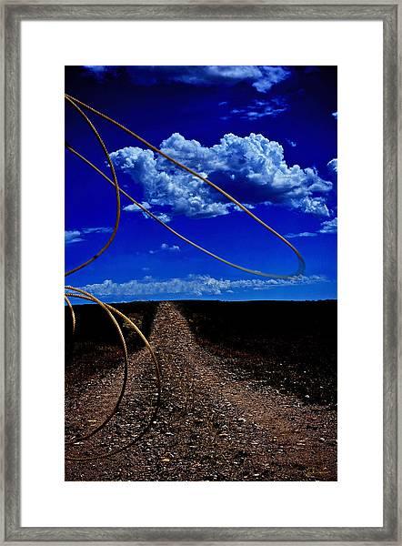 Rope The Road Ahead Framed Print