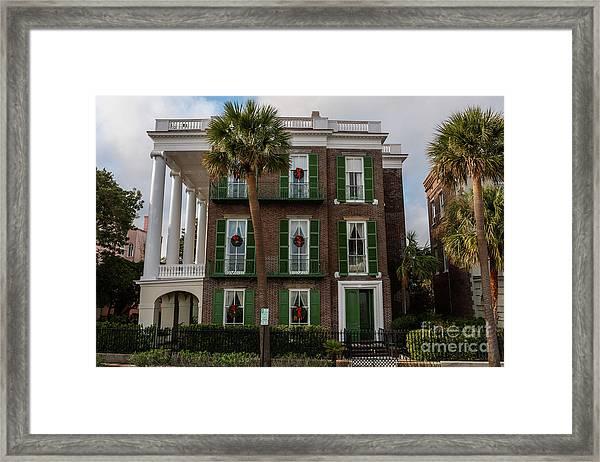 Roper Mansion In December Framed Print