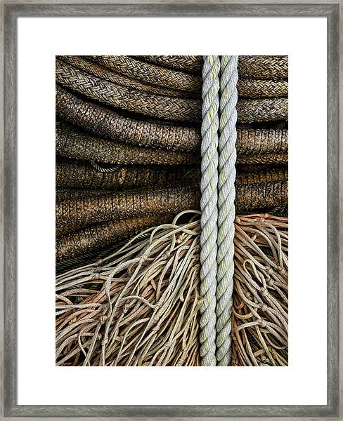 Ropes And Fishing Nets Framed Print
