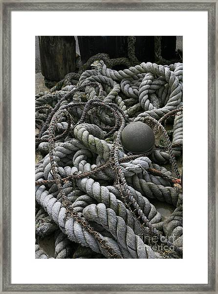 Ropes And Lines Framed Print