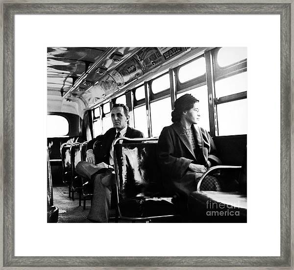 Rosa Parks (1913-2005) Framed Print by Granger