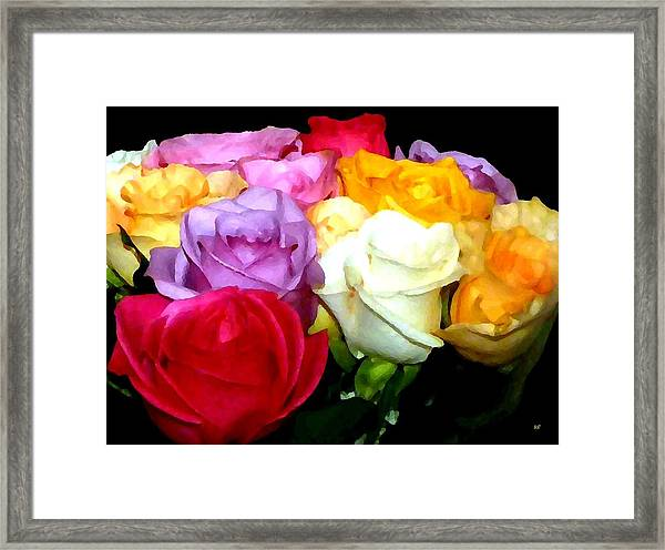 Rose Bouquet Painting Framed Print